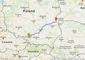 Trasa Czerwionka-Leszczyny - Wisznice