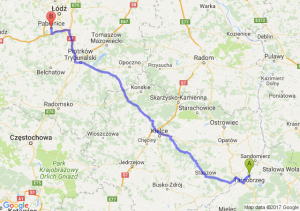 Trasa Tarnobrzeg - Pabianice