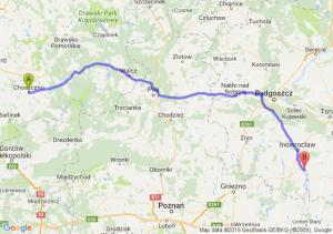 Choszczno (zachodniopomorskie) - Kruszwica (kujawsko-pomorskie)