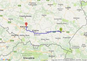 Trasa Rzeszów - Dąbrowa Górnicza