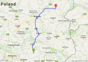Trasa Busko-Zdrój - Ciechanowiec
