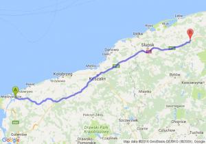 Kamień Pomorski (zachodniopomorskie) - Lębork (pomorskie)
