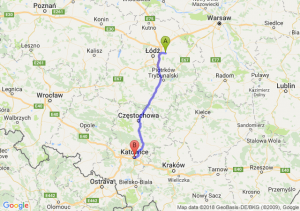 Trasa Brzeziny - Katowice
