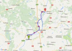 Trasa Chełmno - Opalenie