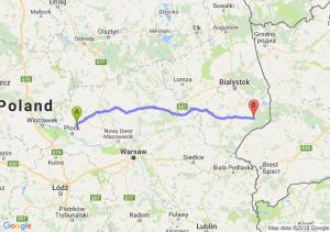 Trasa Bielsk - Hajnówka