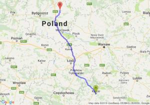 Trasa Kielce - Wąbrzeźno