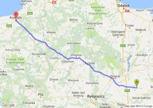 Wąbrzeźno (kujawsko-pomorskie) - Koszalin (zachodniopomorskie)