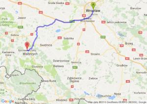 Wrocław (dolnośląskie) - Szczawno-zdrój (dolnośląskie)