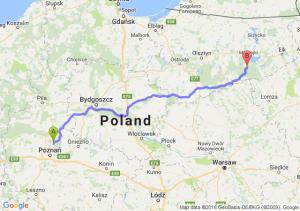 Murowana Goślina (wielkopolskie) - Ruciane-Nida (warmińsko-mazurskie)