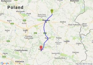 Wyszków (mazowieckie) - Kielce (świętokrzyskie)