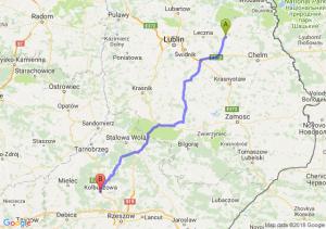 Trasa Cyców - Kolbuszowa