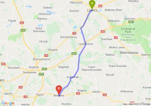 Trasa Łowicz - Brzeziny