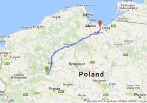 Trasa Czarnków - Nowy Dwór Gdański