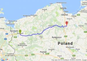 Trasa Stargard Szczeciński - Opalenie