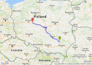Trasa Tarnobrzeg - Września