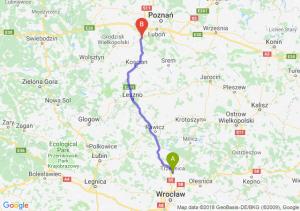 Trasa Trzebnica - Stęszew