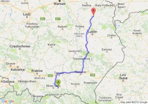 Grybów (małopolskie) - Radzyń Podlaski (lubelskie)