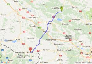 Trasa Bierdzany - Prudnik