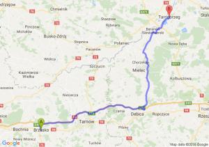 Brzesko (małopolskie) - Tarnobrzeg (podkarpackie)