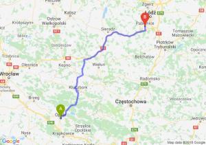 Trasa Opole - Pabianice