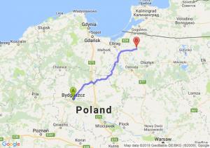 Trasa Bydgoszcz - Orneta