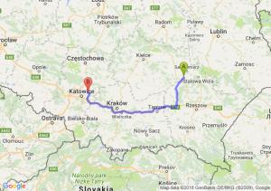 Trasa Tarnobrzeg - Dąbrowa Górnicza