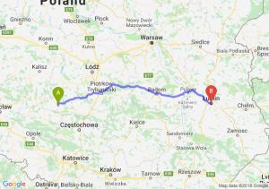 Trasa Wieluń - Lublin