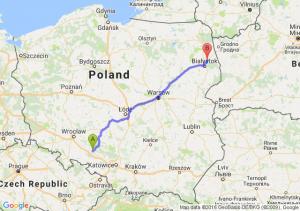Opole (opolskie) - Czarna Białostocka (podlaskie)