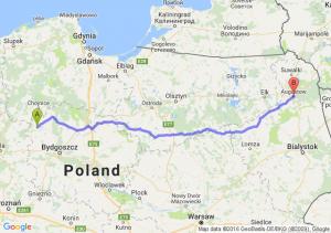 Sępólno Krajeńskie (kujawsko-pomorskie) - Augustów (podlaskie)