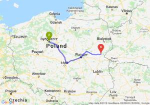 Trasa Bydgoszcz - Siemiatycze