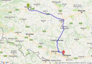 Poznań (wielkopolskie) - Krzeszowice (małopolskie)