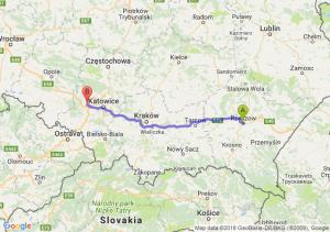 Trasa Rzeszów - Gliwice
