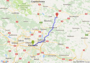 Trasa Katowice - Bobolice