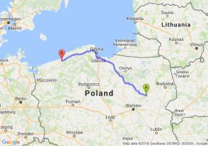 Trasa Ostrów Mazowiecka - Koszalin