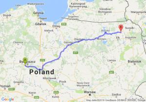 Trasa Białe Błota - Olecko