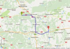Trasa Wałdowice - Trzciel