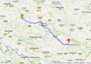 Trasa Kalisz - Tarnobrzeg