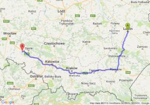 Lublin (lubelskie) - Niemodlin (opolskie)