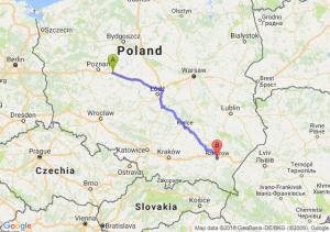 Trasa Września - Rzeszów