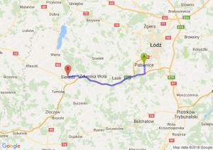 Trasa Pabianice - Sieradz
