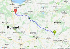 Trasa Siemiatycze - Kwidzyn