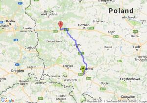 Trasa Biskupice Podgórne - Trzciel
