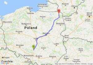 Trasa Częstochowa - Suwałki