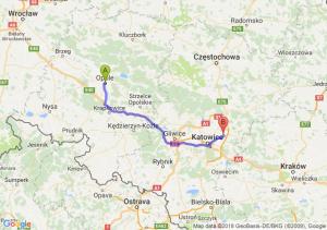 Trasa Opole - Dąbrowa Górnicza