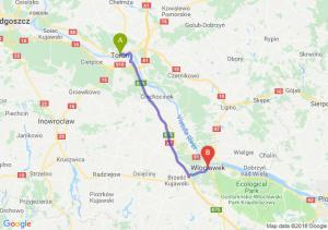 Trasa Toruń - Włocławek