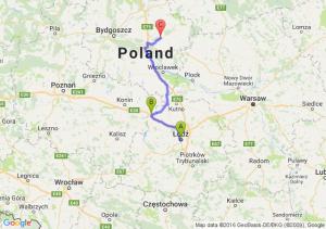 Łódź (łódzkie) - Dąbie (wielkopolskie) - Olszówka (kujawsko-pomorskie)