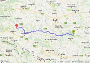 Trasa Skarżysko-Kamienna - Ścinawa