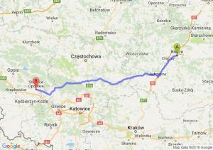 Trasa Kielce - Strzelce Opolskie