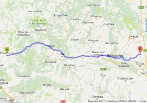 Choszczno (zachodniopomorskie) - Chełmża (kujawsko-pomorskie)