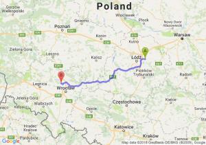 Trasa Brzeziny - Oborniki Śląskie